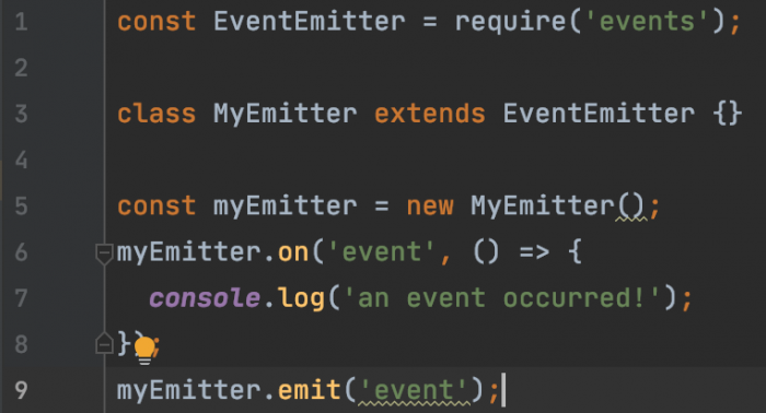 A simple event emitter